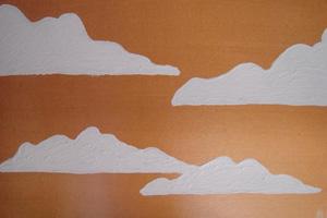 omaggio alle nuvole quadro paint